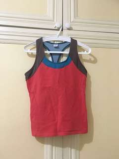 Tricolor Workout Gym Top