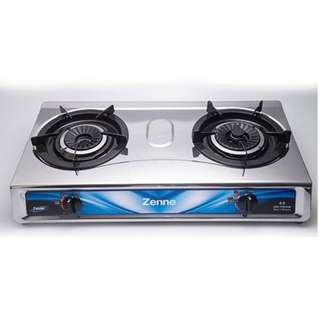 Zenne Double Burner Gas Stove Cooker (KGS301C)