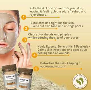 Organic Bentonite Clay FREE Shipping for Metro Manila