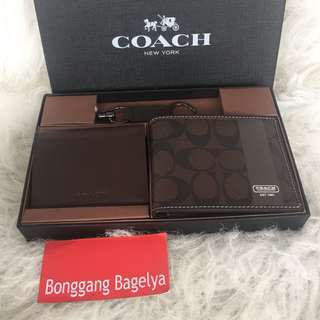 Authentic Coach Wallet Set