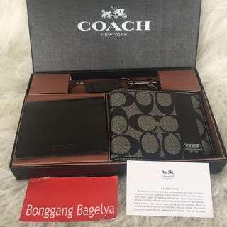 Authentic Coach Wallet Set