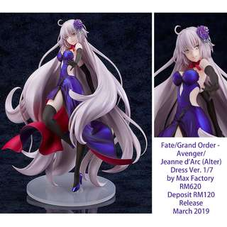 Fate/Grand Order -  Avenger/ Jeanne d'Arc (Alter) Dress Ver. 1/7 by Max Factory  RM620  Deposit RM120 Release  March 2019