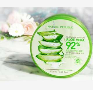 Aloe Vera Nature Republic 92% Original From Korea