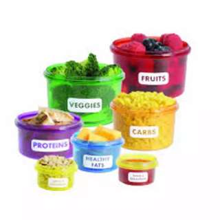 PORTABLE PERFECT PORTION DIET CONTROL CONTAINERS