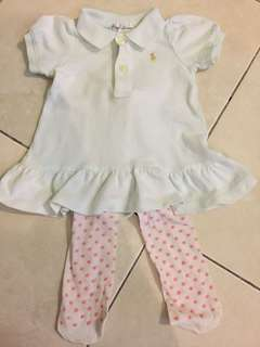 RALPH LAUREN DRESS SET 3mth