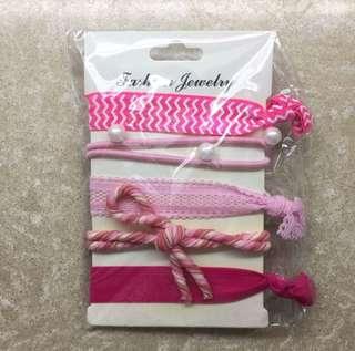 包郵 粉色系頭飾髮飾髮圈橡筋 💖