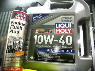 Liqui Moly 10W40 With Engine Flush