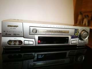 Sharp VHS cassette player 錄影機