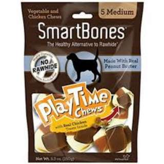 SALE - SmartBones PlayTIme Chews Peanut Butter Medium (5 pcs)