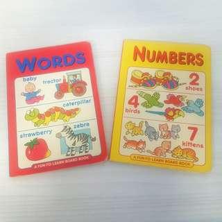Buku word & number bahasa inggris
