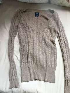 American eagle sweater brown grey AE ae women