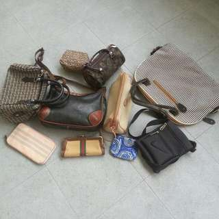 ASSORTED BAGS ETC (ALL FOR $12)