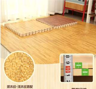 Wood design DIY puzzle mat carpet baby safety floor