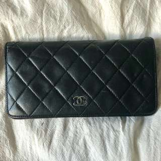 Chanel lambskin long wallet