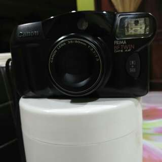 Vintage Canon PRIMA BF-TWIN Date AiAF 35mm Film Camera 38-80mm ZOOM Lens