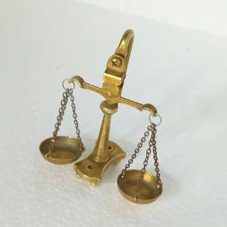 Miniature Brass Scale