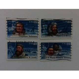 ARCTIC EXPLORERS USA STAMPS (1986)