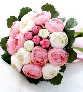 New Artificial Peony Wedding Bouquet/ Bridal Bouquet