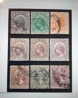 Malaya 1935-41 Perak Sultan (def) 7V Used &2V Mint MA1465