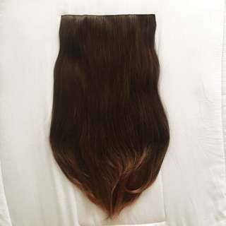 Seven7 Revolution hairclip brown straight lurus alami 55cm