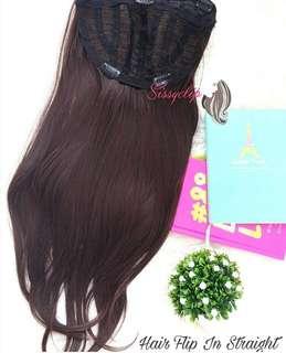 Hair flip straight black