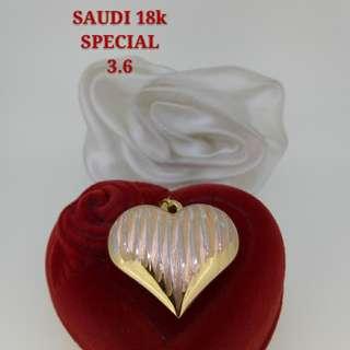 "18K SPL SAUDI GOLD PENDANT "":;'...."
