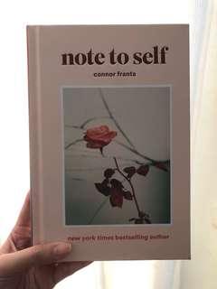 NOTE TO SELF CONNOR FRANTA ORI (full english) hard cover