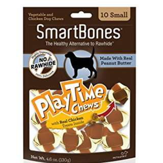 SALE - SmartBones PlayTime Chews Peanut Butter Small (10 pcs)