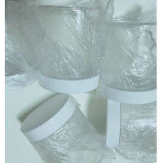 Screw on cap containers for slime white caps tight thick plastic good quality 250ml