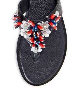 excellent condition Authentic Tory burch Lucy beaded thong sandals w/box - 8m - fits 8-8.5