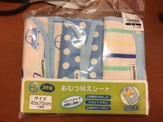 日本直送西松屋嬰兒隔尿墊 (一套三張)