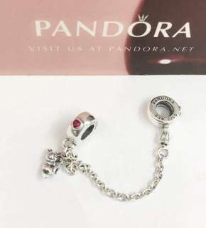 Pandora Safety Chain and Charm