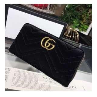 Gucci velvet wallet