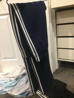 Blue adidas tracksuit pants