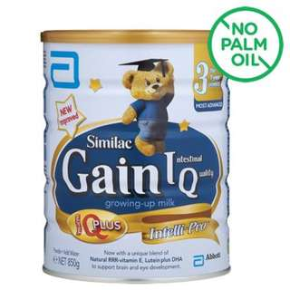 From SG Source - Abbott Similac Growing Up Milk Formula - Gain IQ (Stage 3) 850g