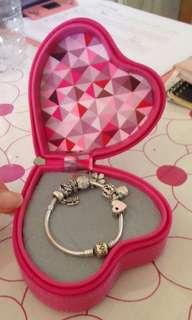 Pandora silver charm bracelet