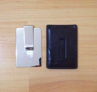 BNWOT Hugo Boss Card Case + Money Clip