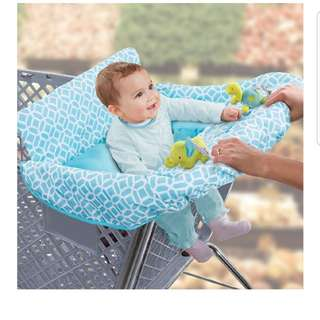 Summer Infant 2-in-1 Supermarket Trolley Cover and Seat Positioner, Diamonds