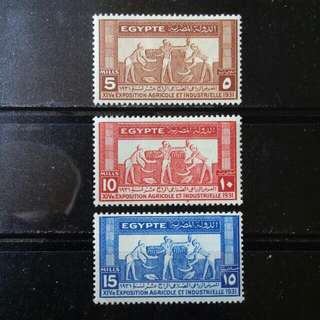 [lapyip1230] 埃及王國 1932年 國際工業農業會議 新票全套 Mint