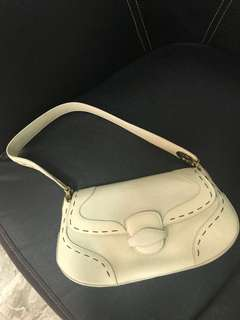 excellent condition authentic Escada ivory leather bag - no inclusions