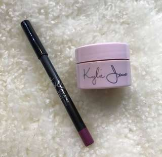 Kylie Birthday Collection Ultra Glow and Kylie Head Over Heals Lip Pencil