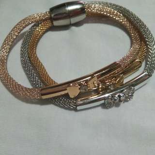 Magnetic 3 in 1 bracelet (rosegold, gold, silver)
