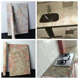 5m marble contract paper sticker waterproof