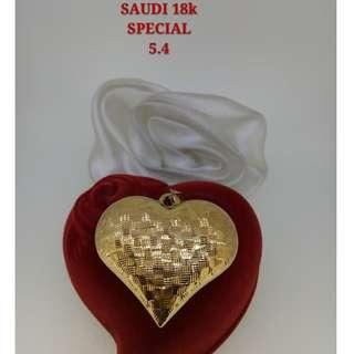 18K SPL SAUDI GOLD PENDANT <<>><>