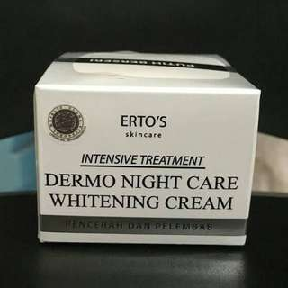 Erto's Whitening Night Cream BPOM Ori 100%