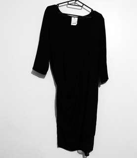 Charity Sale! Authentic Na.Mu Namu Hong Kong Silk Black Tie Up Lace Office Dress Size Small Women