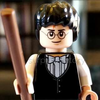 Lego Minifigure Harry Potter Yule Ball with wand
