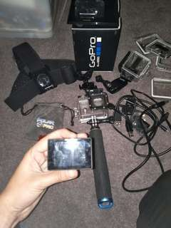 GoPro silver 3+ with all accessories