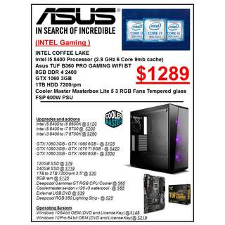 INTEL GAMING PC RIG CUSTOMISED CUSTOM BUILD PC service services
