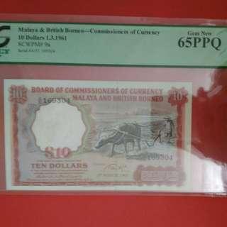 Malaya & British Borneo S10 1961 - Gem Unc